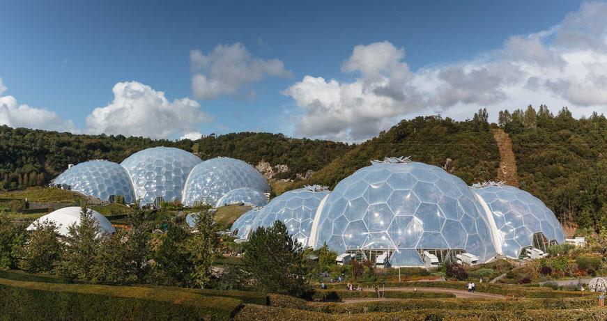 Eden Project, Bodelva, England, GB, geodätische Kuppel, Dome, größtes Gewächshaus der Welt, Architektur, Architektonische Highlights, Architektonische Höhepunkte