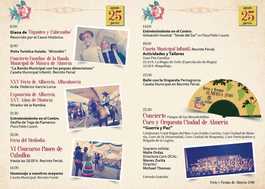 Feria de Almería 2016 Programa