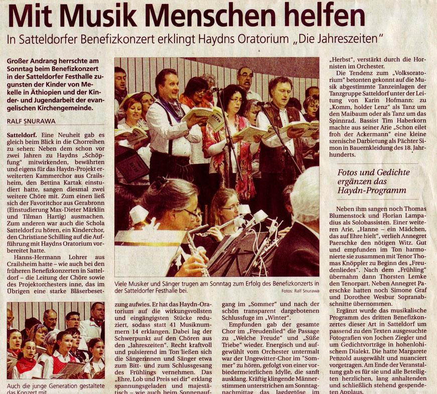 Hohenloher Tagblatt, 16. April 2013