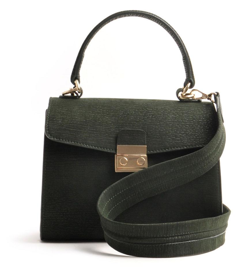 Online-Shop  OWA Tracht modische zeitlose Dirndltasche  Henkeltasche CLOE  . Farbe grün. Schulterriemen versandkostenfrei bestellen