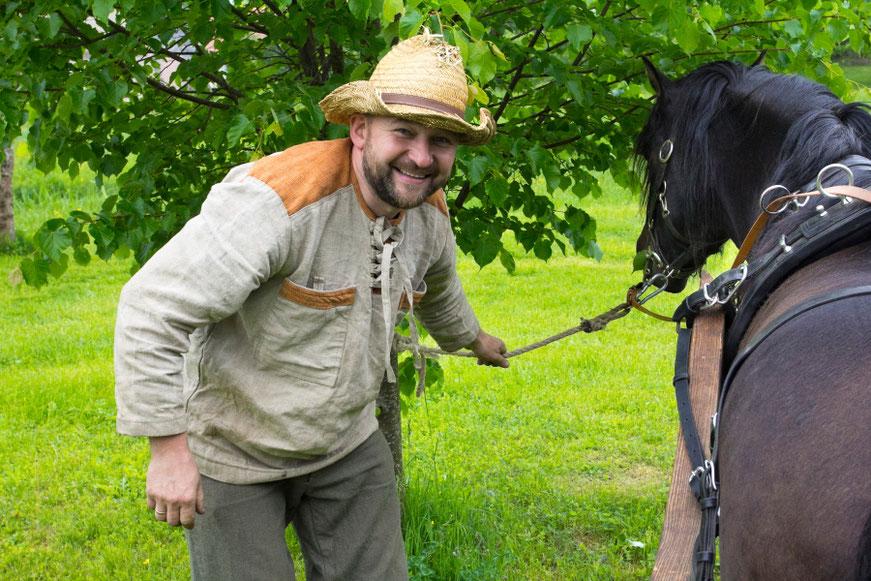 Donatas ir jo žirgas žemaitukas Kipšas