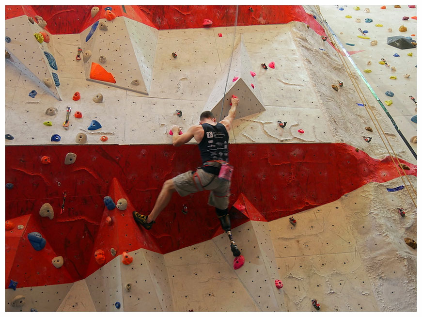Amazing climbing and a great atmosphere in Manchester's Climbing Centre during the weekend's paraclimbing series.