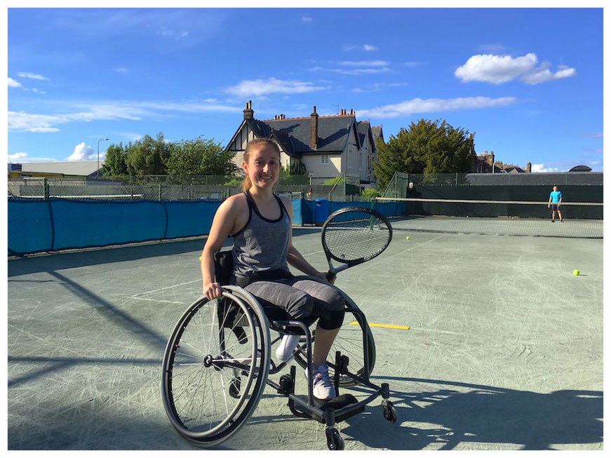 Tennis was always Rebecca's sport of choice (picture courtesy of Rebecca Sellar and Advantage - Edinburgh's Disability Tennis Organization).