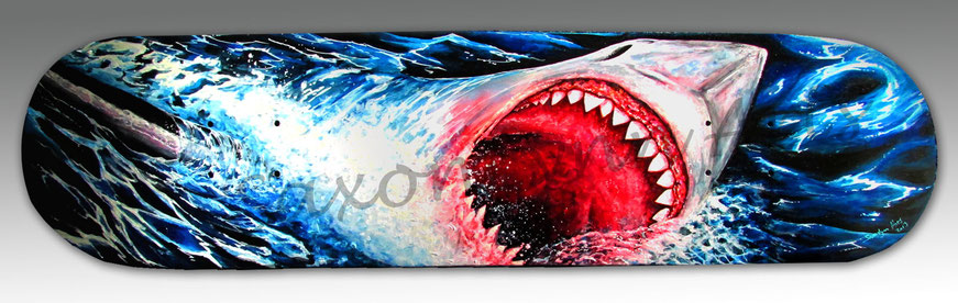 great white shark skateboard