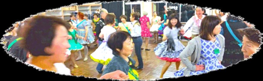 スクエアリリーズ 練習風景 スクエア ダンス 八坂小学校