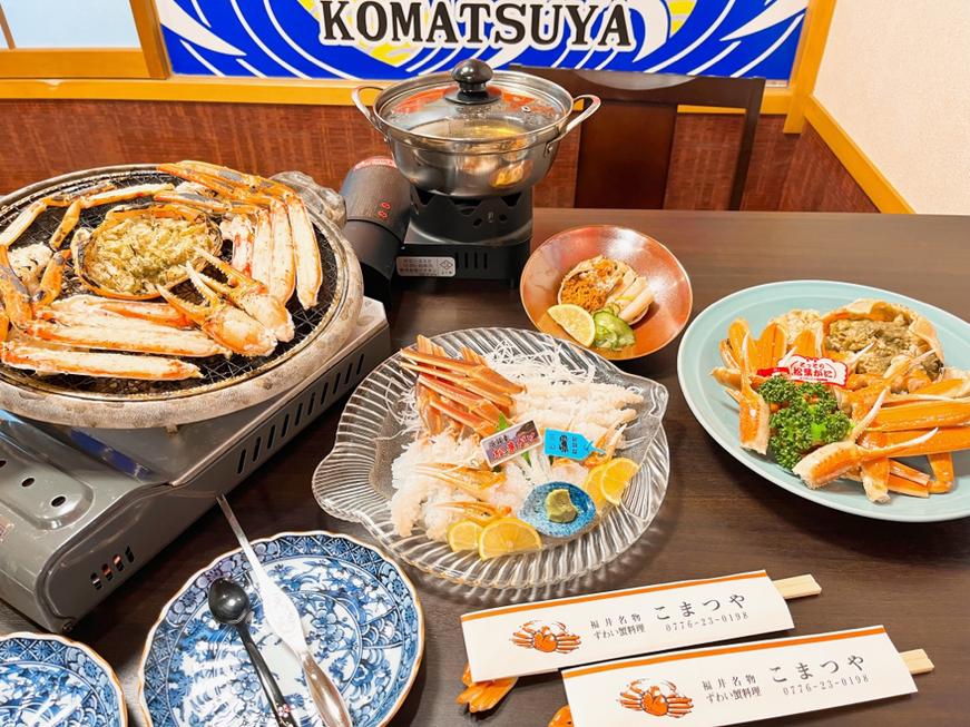 当店のずわい蟹料理はコース料理のみ、12,000円/17,000円/20,000円/22,000円(1名・税別)がございます。