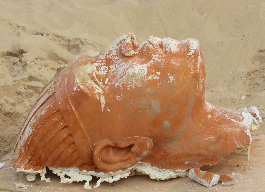 sphinx head recovered from 1923 movie set