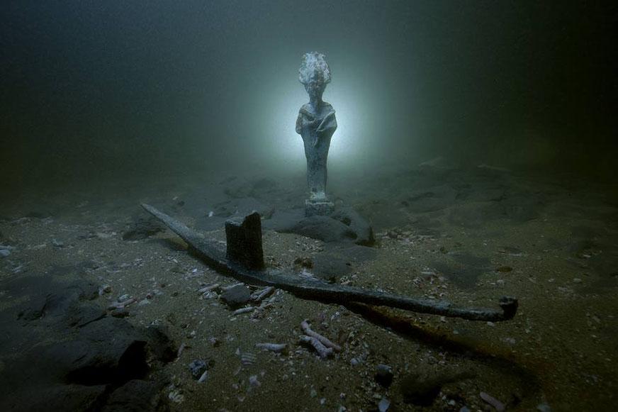 Votive to Osiris found near Heraklion, Egypt