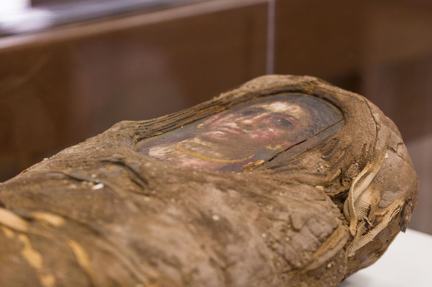 portrait mummy of young Roman Egyptian girl