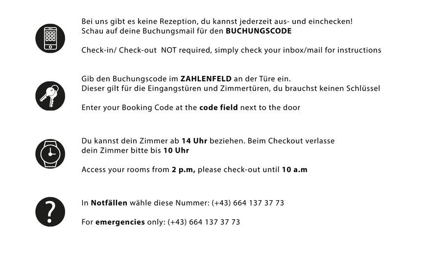 Ceck In Info Haus ZeitRaum
