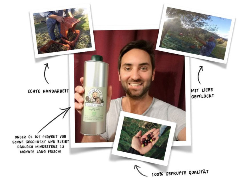 Bio Olivenöl extra vergine handgepflückt