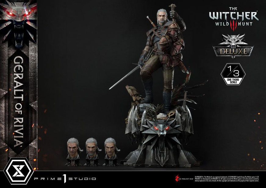 Geralt von Riva Deluxe Version 1/3 Witcher 3 Wild Hunt Statue 88cm Prime 1 Studio