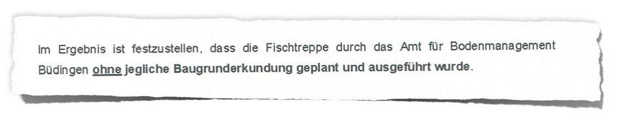 Zitat aus dem Gutachten des beauftragten Ingenieurbüros.