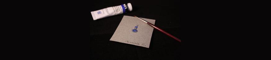 Dessin et mise en couleur de bijoux sur-mesure à la gouache