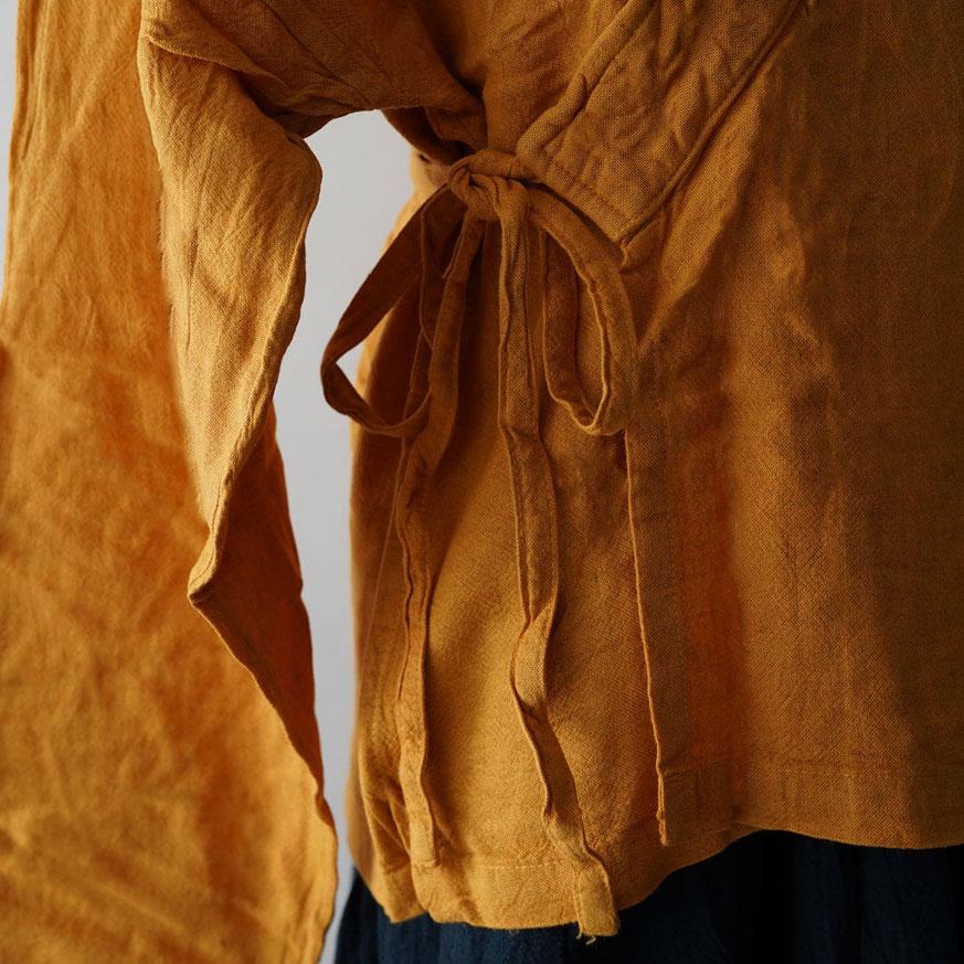 ヂェン先生の日常着 カシュクールカーディガン 胴着 綿麻 自然素材 ヂェンさん 服 台湾 cheng huichung clothings taiwan