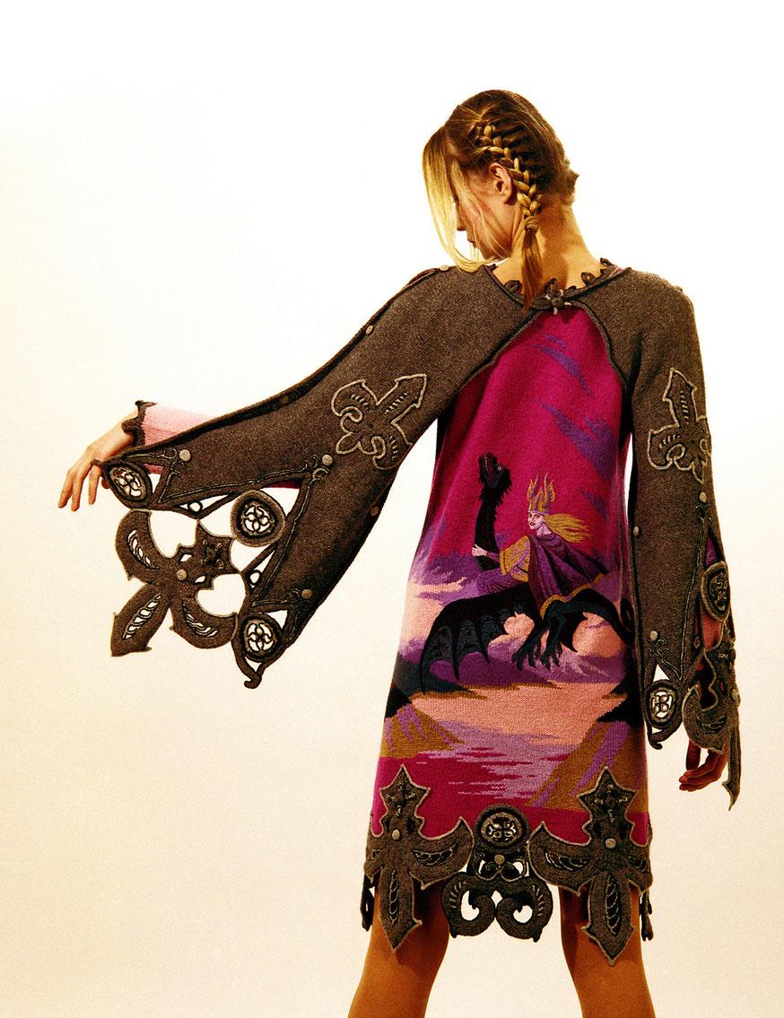 """Alexander Seraphim's knits, """"Gothic #8"""", 1994"""