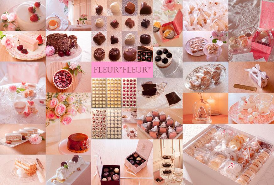 sweets collage, Fleur*Fleur*, fleurfleur