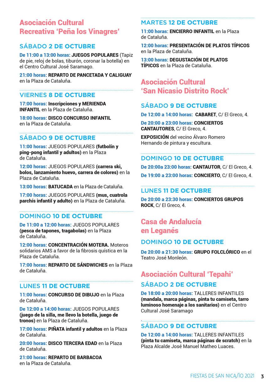 Fiestas de San Nicasio en Leganés Programa