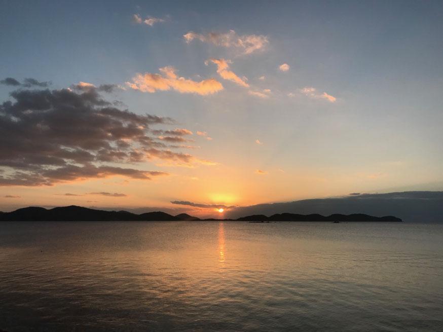 2018年1月1日山口湾(きらら浜)から昇る日の出