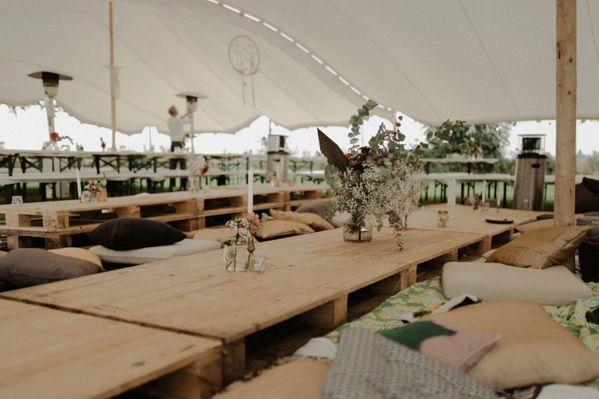 Boho Hochzeit - Hochzeitszelt