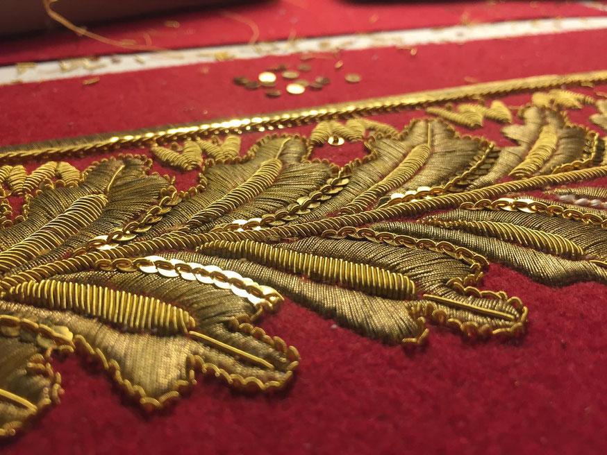 broderie or pour l'uniforme habit du  general russe 1814 premier empire