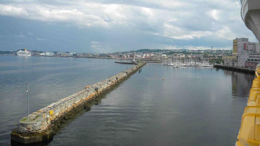Trondheim hat mehrere zentrumsnahe Liegrplätze für Kreuzfahrtschiffe