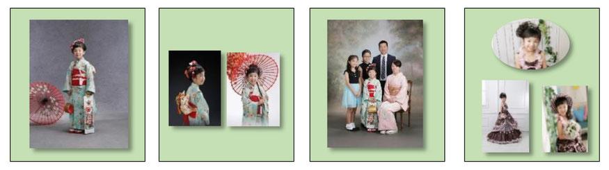 和洋プラン7 七五三 貸衣装無料 着付け無料 ヘアメイク無料 家族写真
