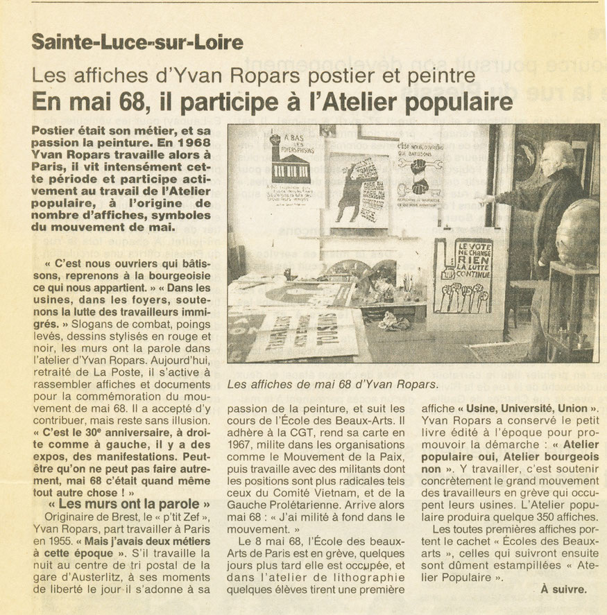 Ouest-France 27 avril 1998