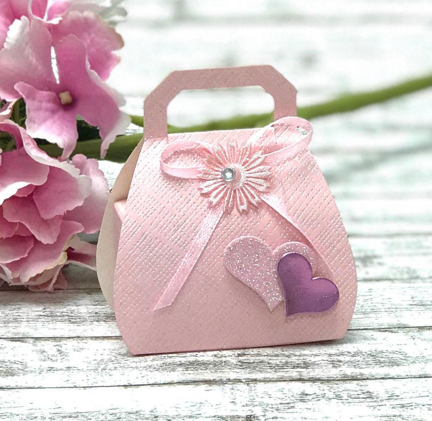 Geschenkbox Handtasche rosa