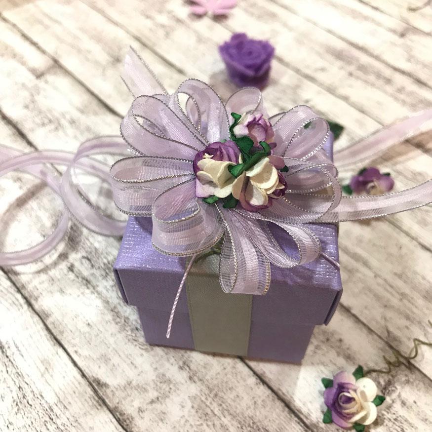 Geschenkbox lila