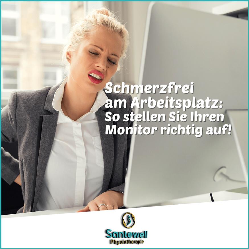 Home Office Physio Santewell in Basel hilft mit Tipps für Ergonomie am Arbeitsplatz!