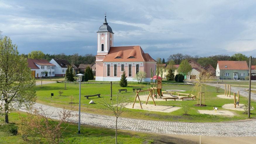 Der Spielplatz im Reesdorfer Rundling