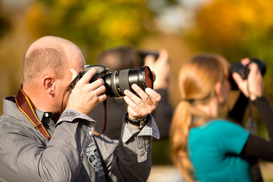Fortgeschrittenen Fotokurs Teilnehmer Polfilter
