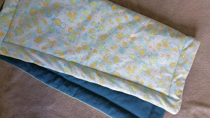 courtepointe couverture bébé molleton chaud vlslc vallaosurlacolline vintage fleurs