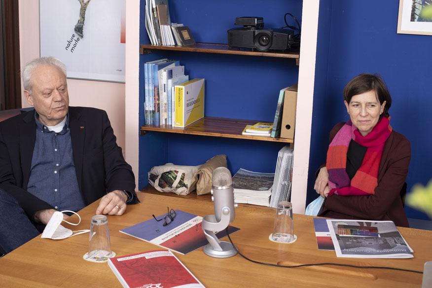 Norbert Fuchs und Brigitte Scholz im icon Büro, Berliner 67. Foto: Sonja Niemeier