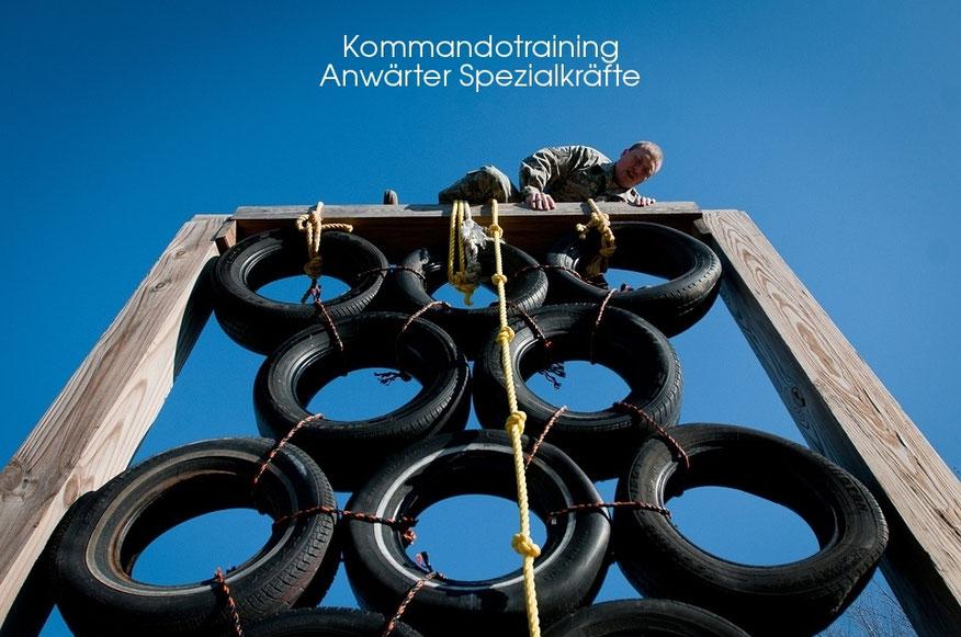 Hinderniskurs Kommandotraining, Fitnesstraining für Spezialkräfte von Polizei (SEK/MEK) und Bundeswehr (KSK)