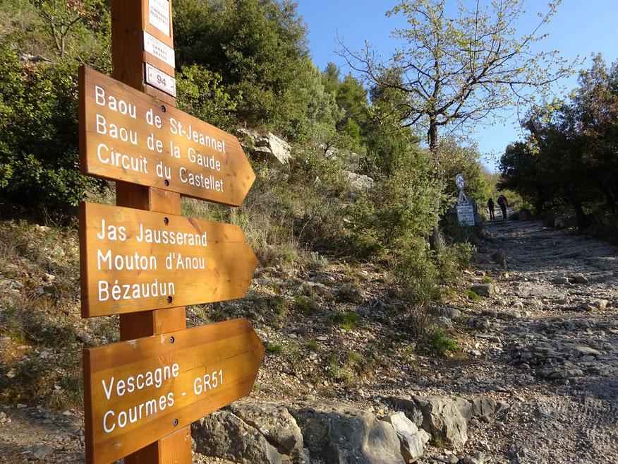La balise 94 marque la fin de la route bitumée qui montait du village