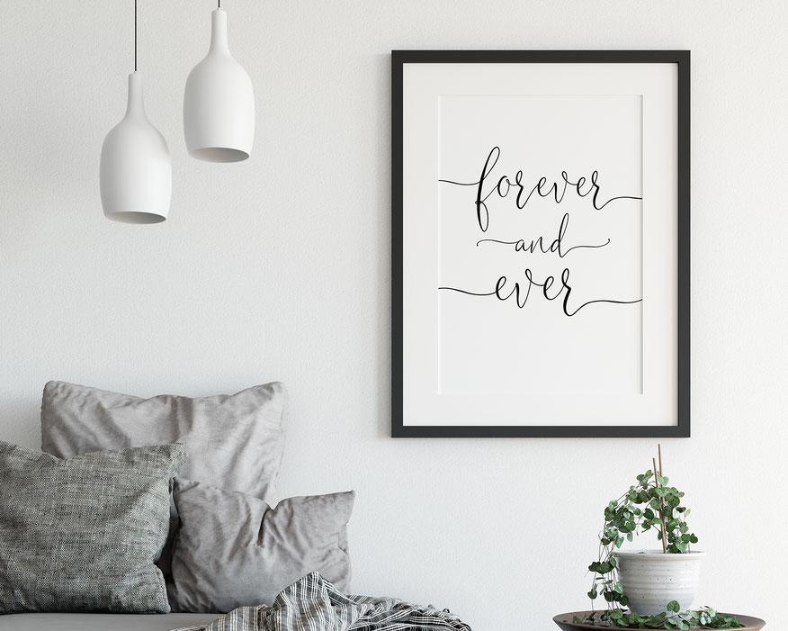 Kunstdruck Print Forever and ever Wohndeko