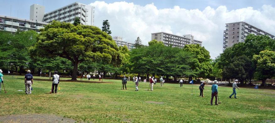 夏の雲公園の多目的広場です。