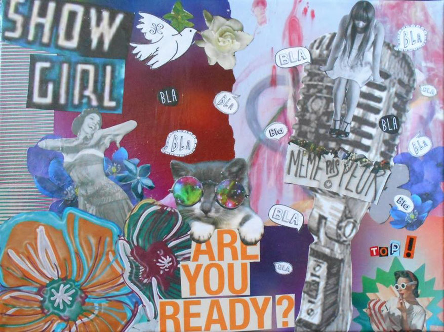 "tableau personnalisé, collage ""Are you ready ?"""