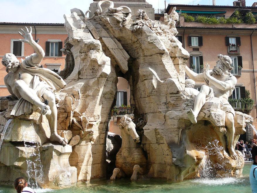 Fontana dei quattro Fiumi du Bernin (1651)