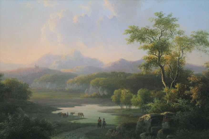 te_koop_aangeboden_een_landschaps_schilderij_van_de_nederlandse_kunstschilder_willem_de_klerk_1800-1876