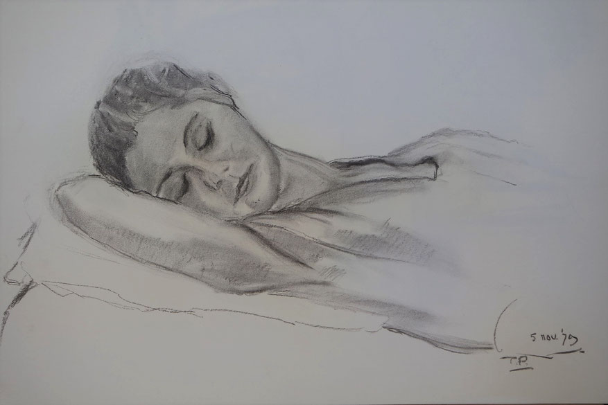 te_koop_aangeboden_een_houtskool_tekening_van_de_nederlandse_kunstenaar_ton_pape_1916-2003