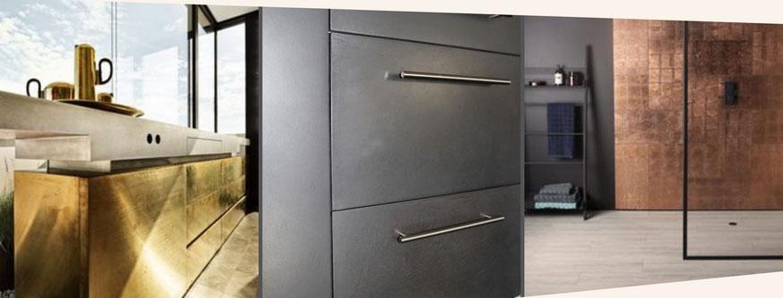 Metaalstuk metaal keuken bad kastjes metallook