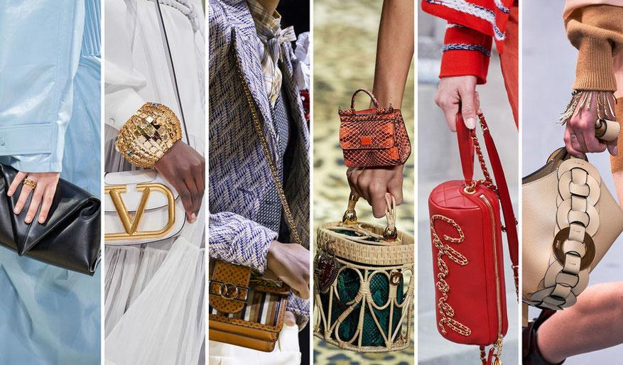 Diversi tipi di borse tendenza primavera estate 2020 trend