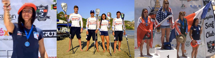 Celine Guesdon  stand up paddle race