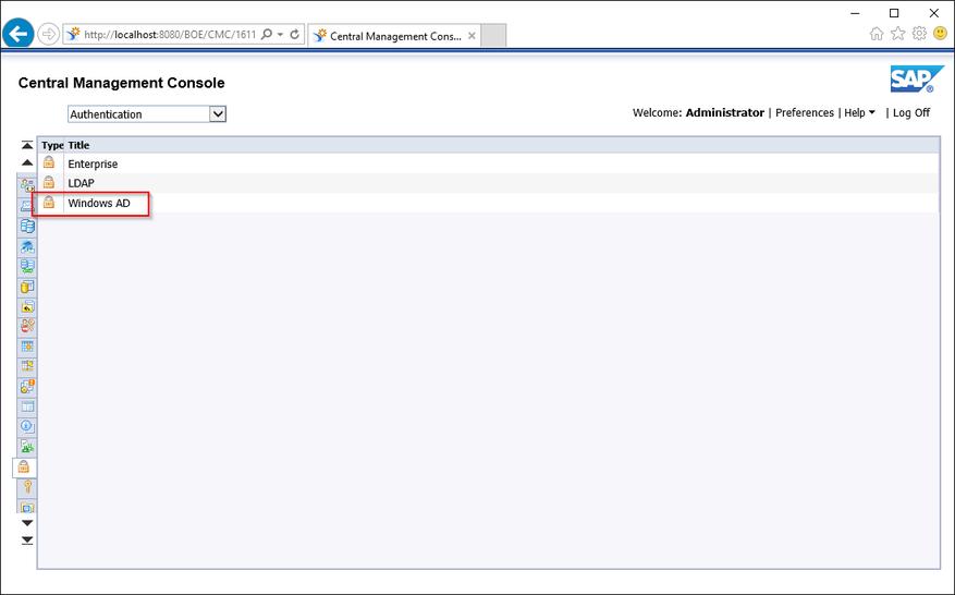 Central Management Console Authentication