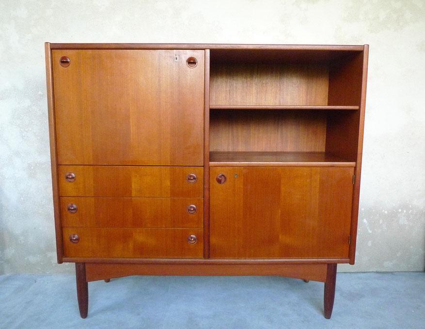 meuble TV commode bibliothèque enfilade teck scandinave vintage JOLI