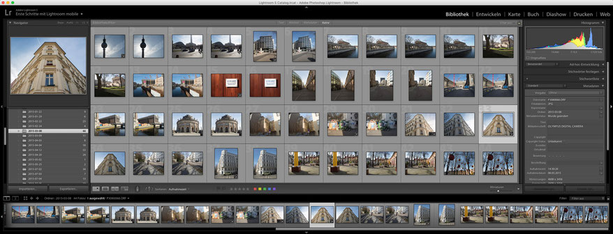 Adobe Lightroom Fotokurs Bibliothek-Modul Enter Studio