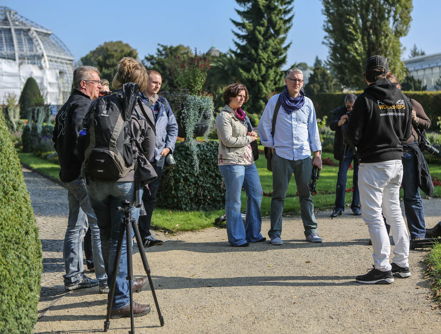 Makrofotografie Fotokurs Teilnehmer Botanischer Garten